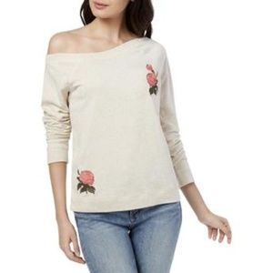 Lucky Brand | Rose Embroidered Sweatshirt